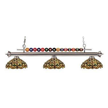 Z-Lite – Luminaire suspendu Shark pour îlot/table de billard 170BN-C14, 3 amp., Tiffany multicolore