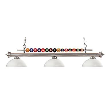 Z-Lite – Luminaire suspendu Shark pour îlot/table de billard 170BN-DMO14, 3 amp., dôme, opale mate