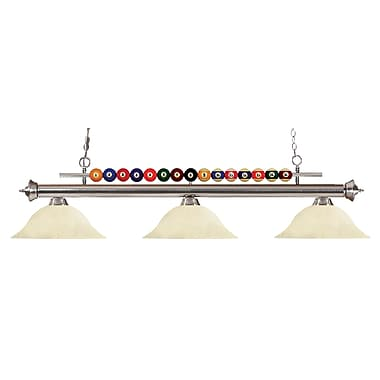 Z-Lite – Luminaire suspendu Shark pour îlot/table de billard 170BN-GM16, 3 amp., marbre doré