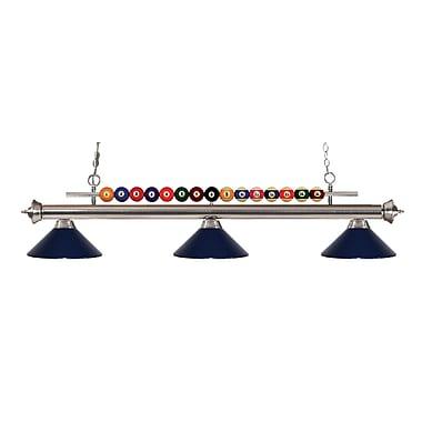 Z-Lite – Luminaire suspendu Shark pour îlot/table de billard 170BN-MNB, 3 amp., bleu marine