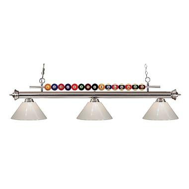Z-Lite – Luminaire suspendu Shark pour îlot/table de billard 170BN-PWH, 3 amp., blanc