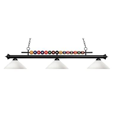 Z-Lite – Luminaire suspendu Shark pour îlot/table de billard 170MB-AMO14, 3 amp., opale mate