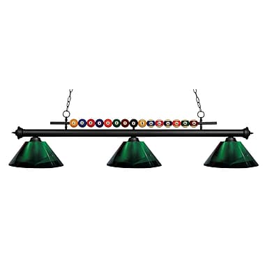 Z-Lite 170MB-ARG Shark Island/Billiard Light Fixture, 3 Bulb, Acrylic Green
