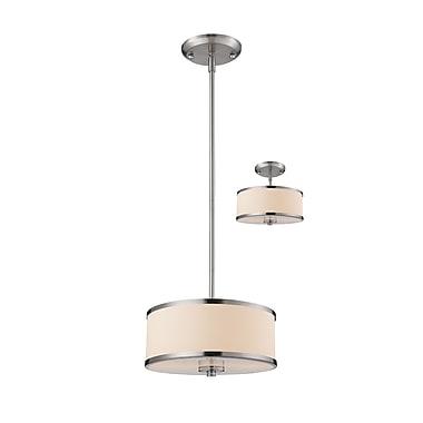Z-Lite – Luminaire suspendu Cameo 183-12, 2 ampoules, blanc