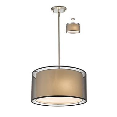 Z-Lite – Luminaire suspendu Sedona 192-15BK-C, 3 amp., noir/super blanc