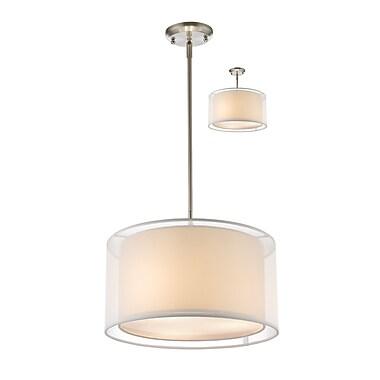 Z-Lite – Luminaire suspendu Sedona 192-15W-C, 3 amp., blanc/super blanc