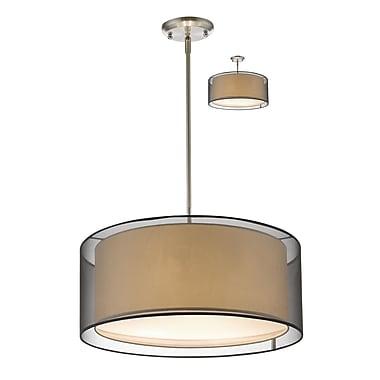 Z-Lite – Luminaire suspendu Sedona 192-24BK-C, 3 amp., noir/super blanc