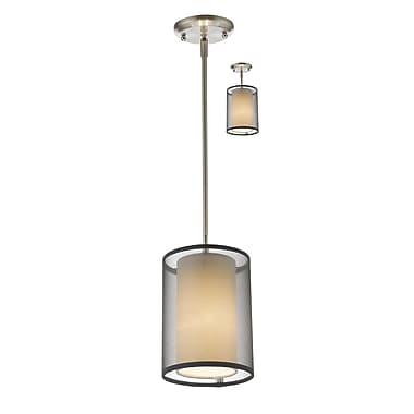 Z-Lite – Petit luminaire suspendu Sedona 192-6BK-C, 1 ampoule, noir/super blanc