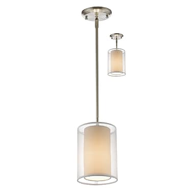 Z-Lite – Petit luminaire suspendu Sedona 192-6W-C, 1 ampoule, blanc/super blanc
