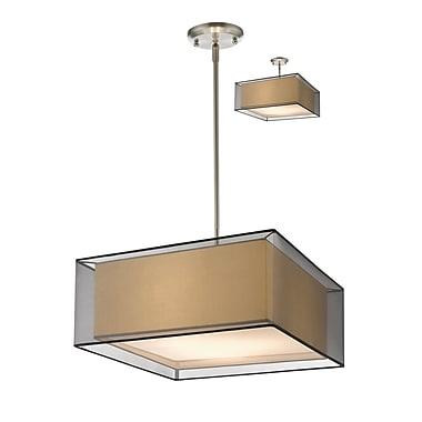 Z-Lite – Luminaire suspendu Sedona 193-24BK-C, 3 amp., noir/super blanc