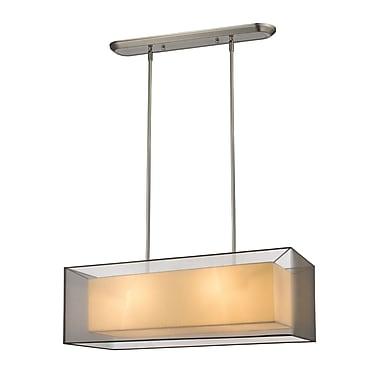 Z-Lite – Luminaire suspendu Sedona pour îlot/table de billard 193-36BK-C, 4 ampoules, noir/super blanc