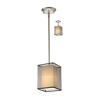 Z-Lite – Petit luminaire suspendu Sedona 193-6BK-C, 1 ampoule, noir/super blanc