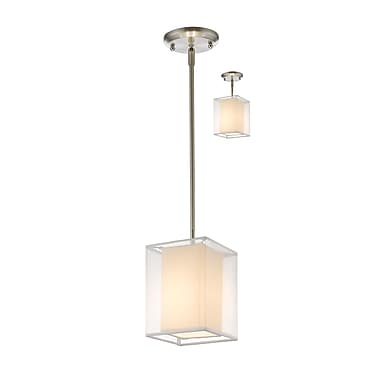 Z-Lite – Petit luminaire suspendu Sedona 193-6W-C, 1 ampoule, blanc/super blanc