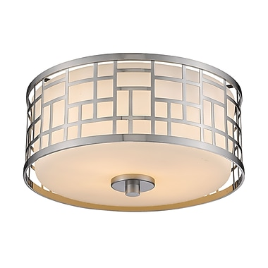 Z-Lite – Luminaire encastré Elea 330F12-BN, 2 ampoules, opale mate