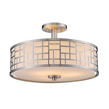 Z-Lite – Luminaire semi-encastré Elea 330-SF16-BN, 3 amp., opale mate