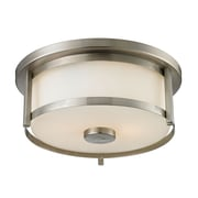 Z-Lite 412F11 Savannah Flush Mount Light Fixture, 2 Bulb, Matte Opal