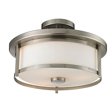 Z-Lite – Luminaire semi-encastré Savannah 412SF14, 2 ampoules, opale mate