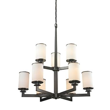 Z-Lite – Lustre Savannah 413-9, 9 ampoules, opale mate
