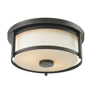 Z-Lite 413F11 Savannah Flush Mount Light Fixture, 2 Bulb, Matte Opal