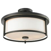 Z-Lite 413SF16 Savannah Semi Flush Mount Light Fixture, 3 Bulb, Matte Opal