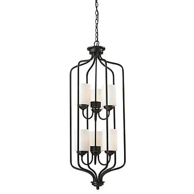 Z-Lite – Luminaire suspendu Cardinal 414-40, 6 ampoules, opale mate