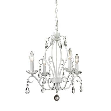 Z-Lite – Petit lustre Princess Chandeliers 423MW, 4 ampoules, cristal incolore