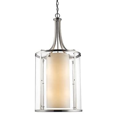 Z-Lite – Luminaire suspendu Willow 426-12-BN, 1 : 2, intérieur opale mate et extérieur transparent
