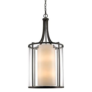 Z-Lite – Luminaire suspendu Willow 426-12-OB, 1 : 2, intérieur opale mate et extérieur transparent