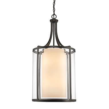 Z-Lite – Luminaire suspendu Willow 426-8-OB, 8 ampoules, intérieur opale mate et extérieur transparent