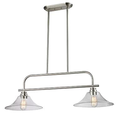 Z-Lite – Luminaire suspendu Annora pour îlot/table de billard 428-2B-BN, 2 ampoules, transparent