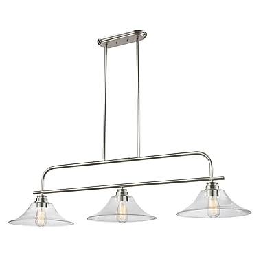 Z-Lite – Luminaire suspendu Annora pour îlot/table de billard 428-3B-BN, 3 amp., transparent