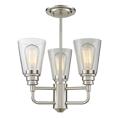 Z-Lite – Luminaire semi-encastré Annora 428SF-BN, 3 amp., transparent