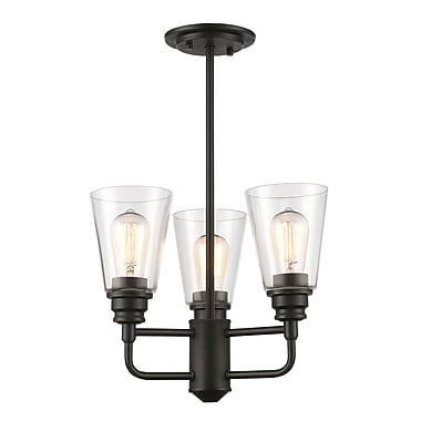 Z-Lite – Luminaire semi-encastré Annora 428SF-OB, 3 amp., transparent