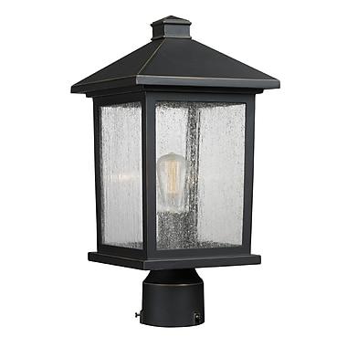 Z-Lite – Luminaire extérieur Portland 531PHMR-ORB, 1 ampoule, transparent à grains