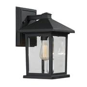 Z-Lite – Luminaire extérieur Portland 531S-BK, 1 ampoule, biseauté transparent