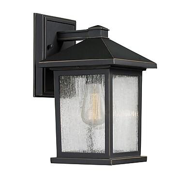 Z-Lite – Luminaire extérieur Portland 531S-ORB, 1 ampoule, transparent à grains