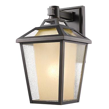 Z-Lite – Luminaire extérieur Memphis 532M-ORB, 1 ampoule, transparent à grains + teinté
