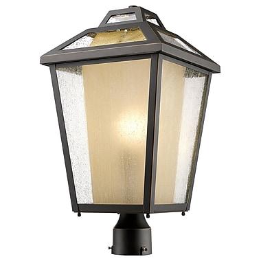 Z-Lite – Luminaire extérieur Memphis 532PHBR-ORB, 1 ampoule, transparent à grains + teinté