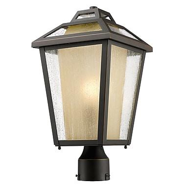 Z-Lite – Luminaire extérieur Memphis 532PHMR-ORB, 1 ampoule, transparent à grains + teinté