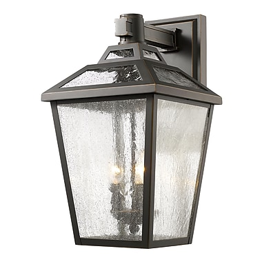 Z-Lite – Luminaire extérieur Bayland 539B-ORB, 3 amp., transparent à grains