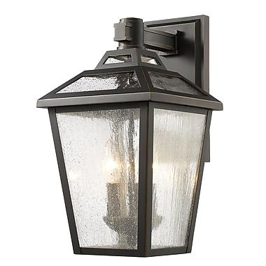 Z-Lite – Luminaire extérieur Bayland 539M-ORB, 3 amp., transparent à grains