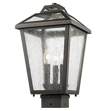 Z-Lite – Luminaire extérieur Bayland 539PHMS-ORB, 3 amp., transparent à grains