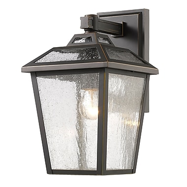 Z-Lite 539S-ORB Bayland Outdoor Light Fixture, 1 Bulb, Clear Seedy