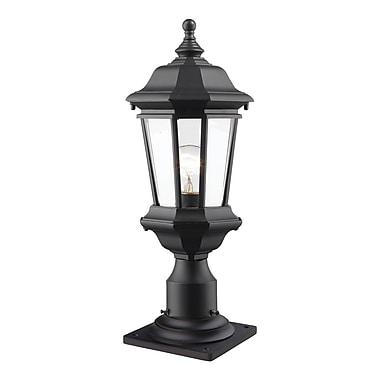 Z-Lite – Luminaire extérieur Melbourne 540PHM-533PM-BK, 1 ampoule, biseauté transparent