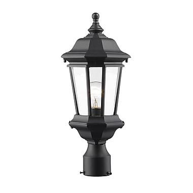 Z-Lite – Luminaire extérieur Melbourne 540PHM-BK, 1 ampoule, biseauté transparent