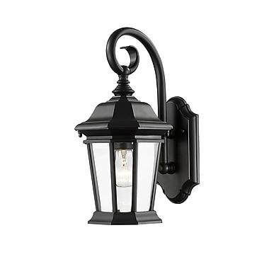 Z-Lite – Luminaire extérieur Melbourne 541M-BK, 1 ampoule, biseauté transparent