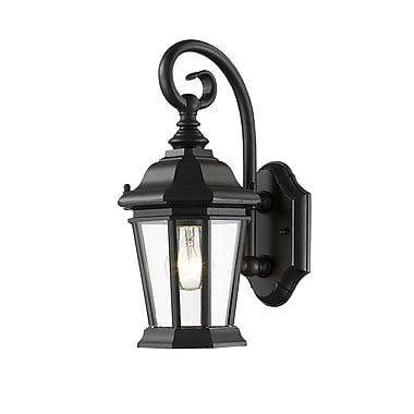 Z-Lite – Luminaire extérieur Melbourne 541S-BK, 1 ampoule, biseauté transparent
