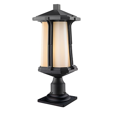 Z-Lite – Luminaire extérieur Harbor Lane 542PHB-533PM-BK, 1 ampoule, opale mate