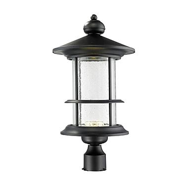 Z-Lite – Luminaire extérieur Genesis 552PHBR-BK-LED, 8 ampoules, transparent à grains