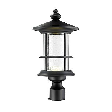 Z-Lite – Luminaire extérieur Genesis 552PHMR-BK-LED, 8 ampoules, transparent à grains